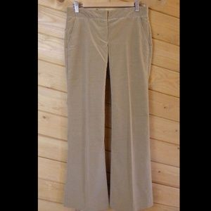 Theory Women Beige Tan Size 2 Corduroy Dress Pants